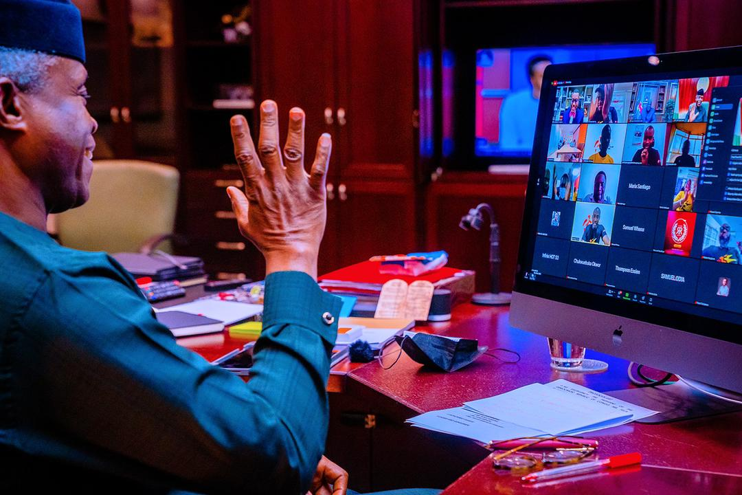 VP Osinbajo Attends Virtual Event Commemorating The 25th Anniversary Of Sahara (Energy) Group On 23/08/2021