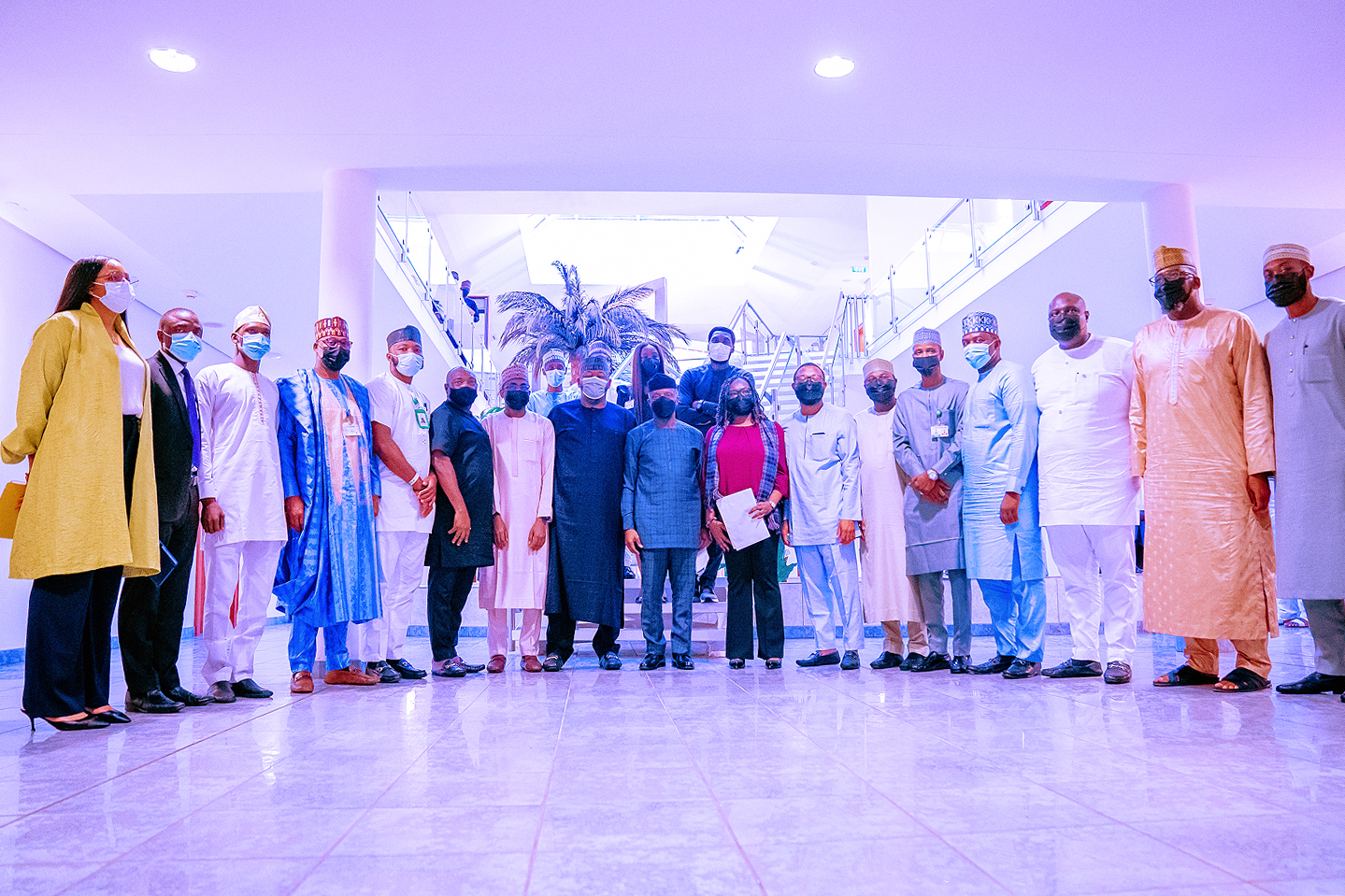 VP Osinbajo Receives Report Of APC National Youth Conference On 16/08/2021