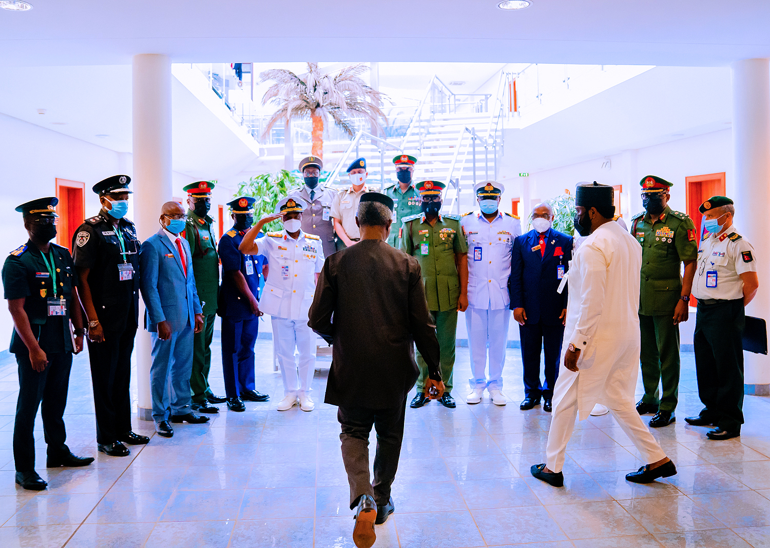 VP Osinbajo Receives Course 29 Participants Of The National Defence College On 02/08/2021
