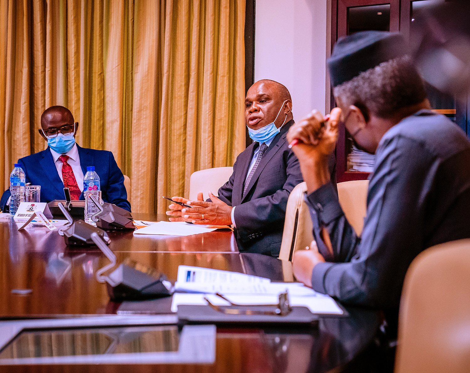 VP Osinbajo Receives In Audience, The Executive Delegation Of Afrexim Bank Led By Its CEO Prof. Oramah On 17/08/2021