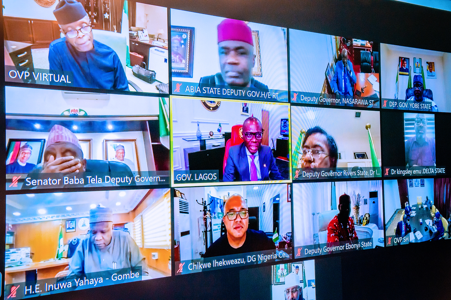 VP Osinbajo Presides Over Virtual Meeting Of The National Economic Council On 26/08/2021