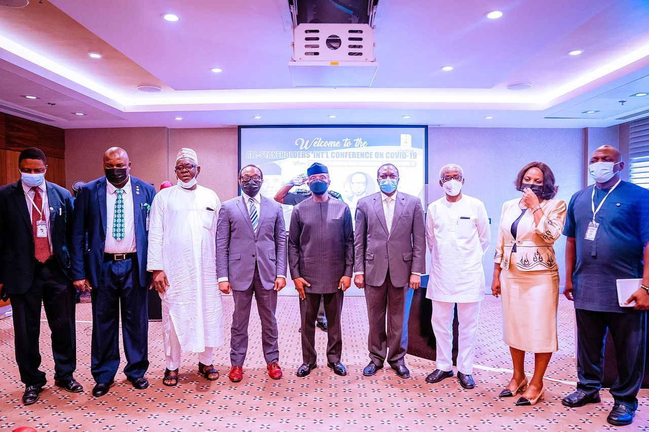 VP Osinbajo Attends The International Conference On Health Access Beyond COVID-19 On 18/10/2021