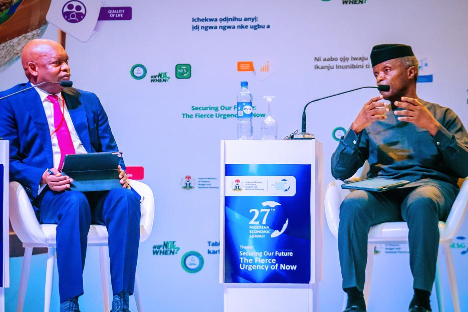 VP Osinbajo Attends Fireside Chat And Closes The 27th Nigerian Economic Summit On 26/10/2021