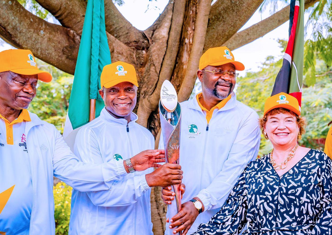On Behalf Of President Buhari, VP Osinbajo Welcomes The Queen's Baton For Birmingham 2022 Commonwealth Games On 16/10/2021