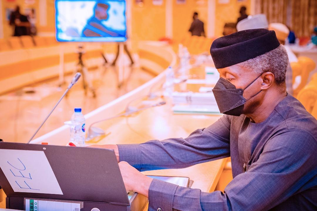 VP Osinbajo Presides Over The Federal Executive Council Meeting On 27/10/2021